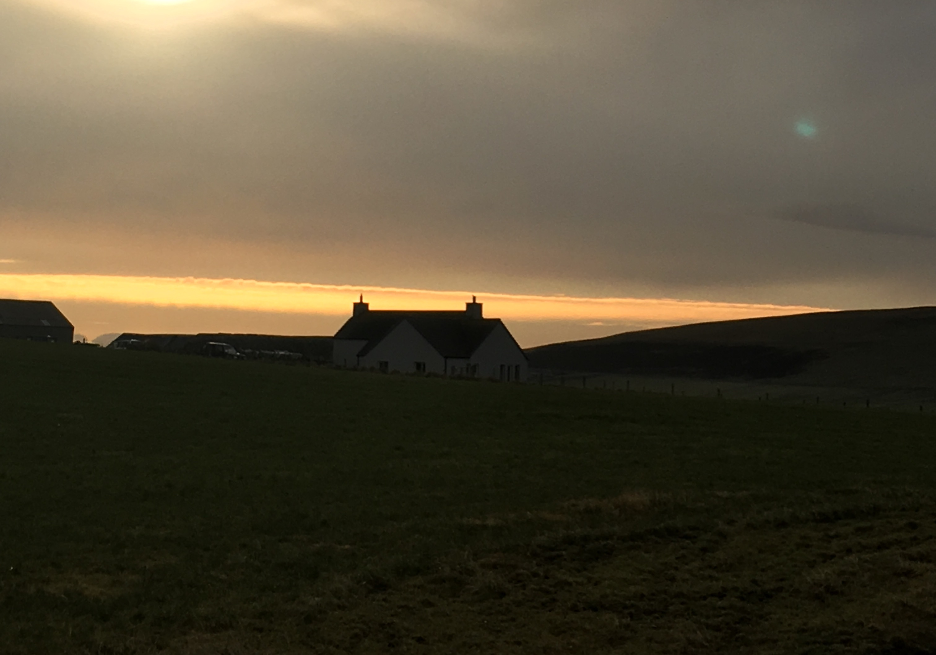 Sunset over the croft